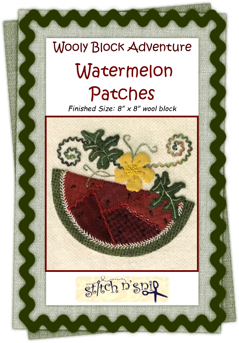 Wooly Block 2018: Watermelon Patches Pattern