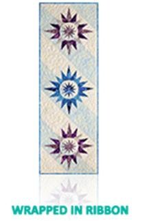 Wrapped in Ribbon Table Runner Kit Rust/Blues