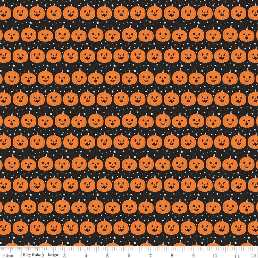 Fabric Riley Blake Fab-boo-lous Pumpkins Black