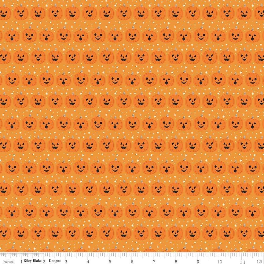Fabric Riley Blake Fab-boo-lous Pumpkins Orange