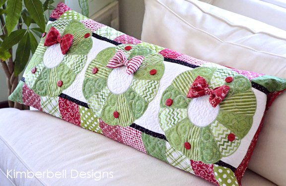 Christmas Bench Pillow  Kit - fabric only