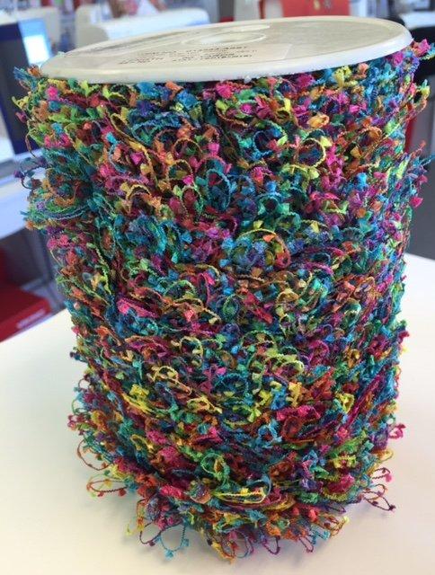 1 Looped Eyelash Fringe - multicolor