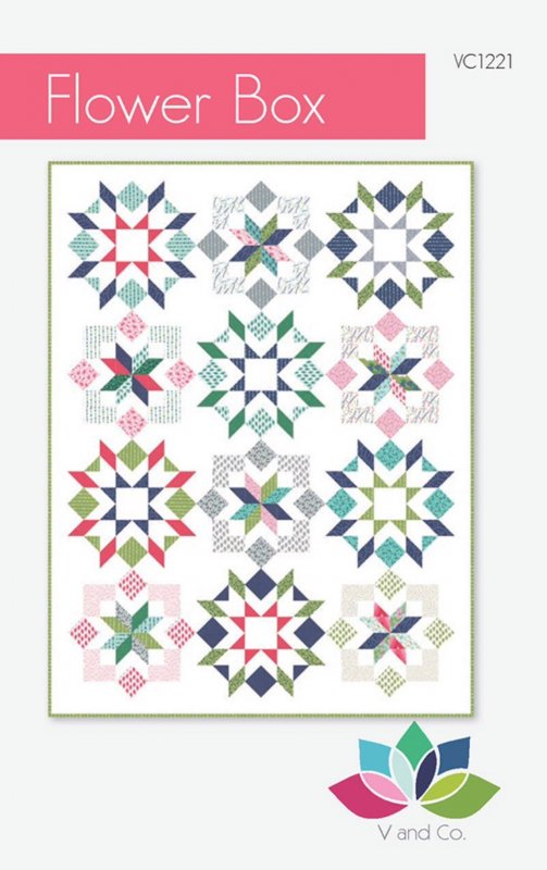 Flower Box quilt pattern by V & Co.