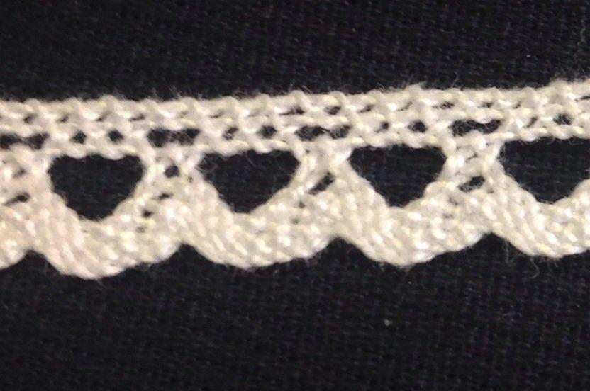 Dentelle cotton trim - white - 8 mm - # 4319B