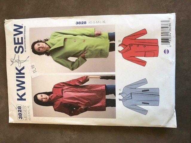 Kwik Sew jacket pattern - # 3828 - Size XS - XL