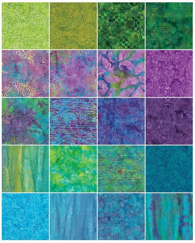 Island Batik 2.5 strips - Jewel Box Batiks