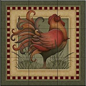 VIP Country Charm rooster Panel byAngela Anderson