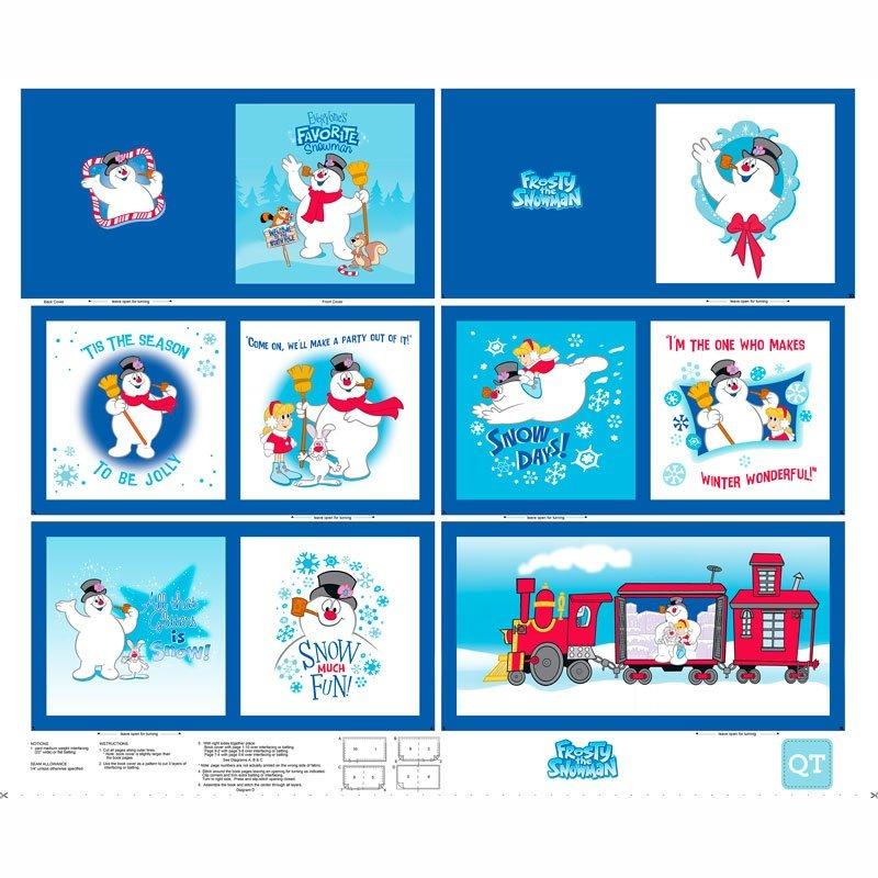 QT Everyones Fav Snowman Book Panel- frosty the snowman