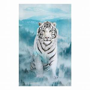 Call of the Wild-Iceblue Panel - White Tiger