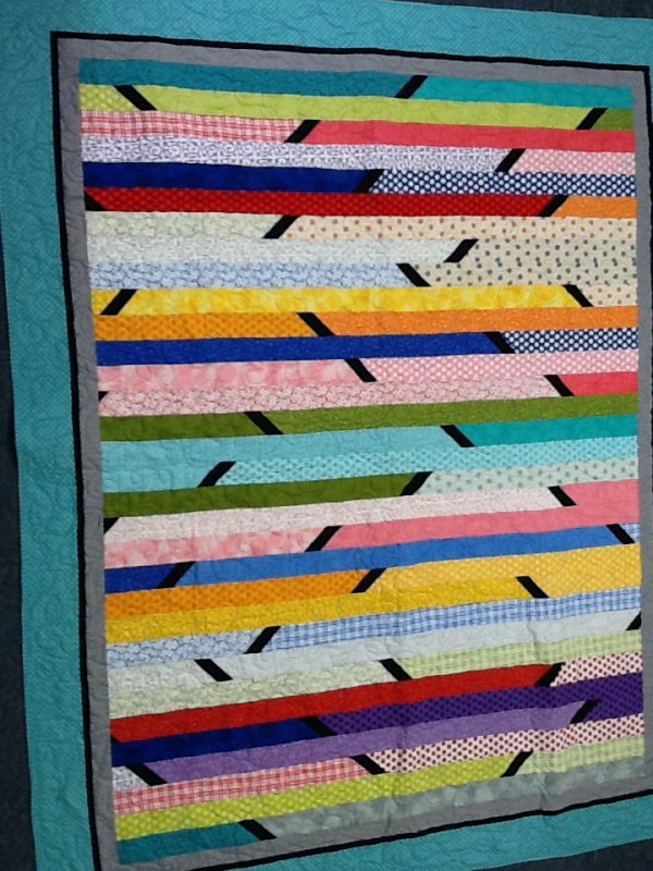 Jelly Roll Race With A Twist Quilt