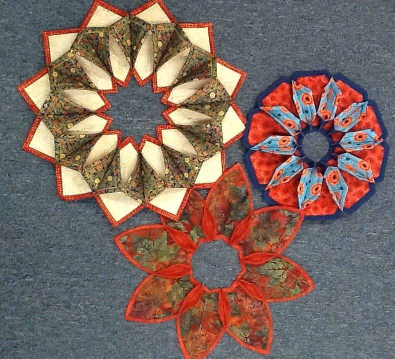 Fold'n Stitch Wreath Morning Cool Fold And Stitch Wreath Pattern