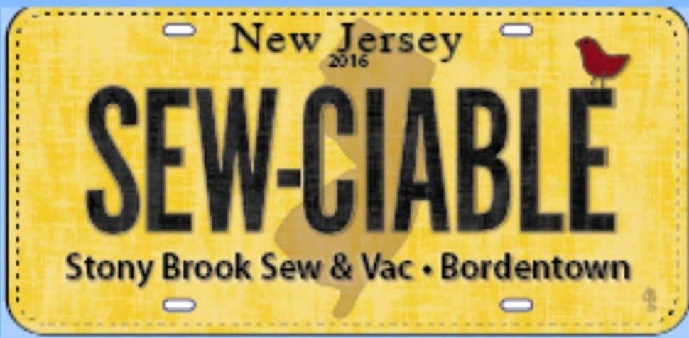 Row By Row Plate Bordentown, NJ (includes Shipping)