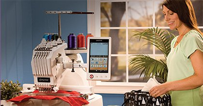 Brother Entrepreneur� PR655 6-Needle Home Embroidery Machine