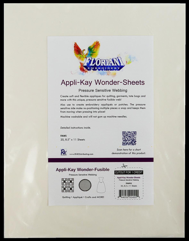 FL Appli-Kay Wonder  20 Printable Sheets 8.5 x 11