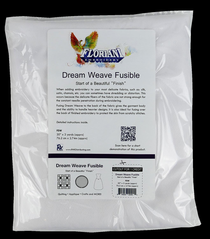 FL Dream Weave White (Fusible) 30 x 3 yds