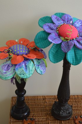Fanciful Flower Pincushion