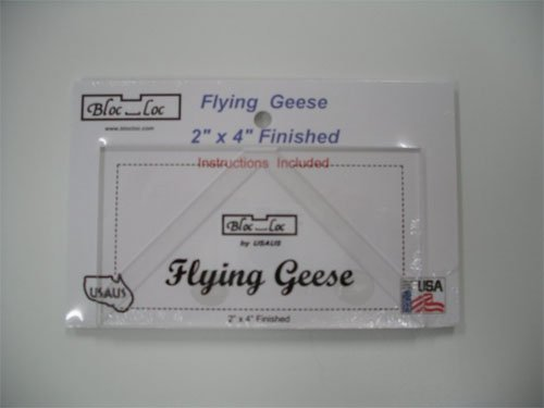Bloc Loc - Flying Geese - 2 x 4 Finished