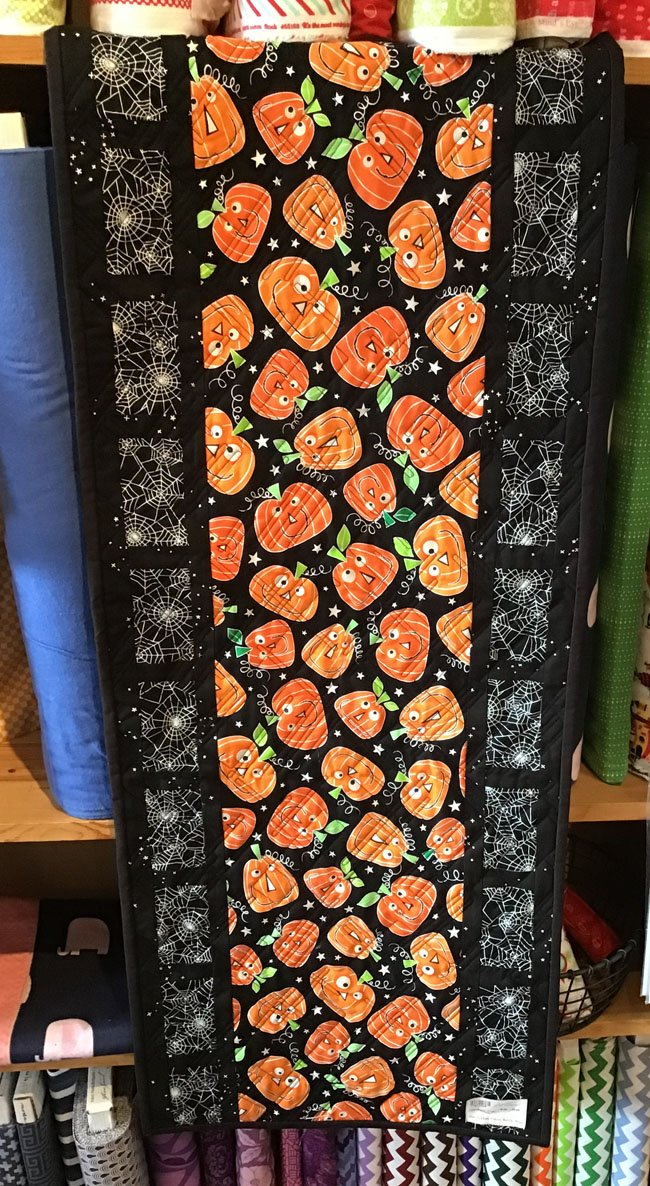 Reel Time Halloween Tablerunner 17x42