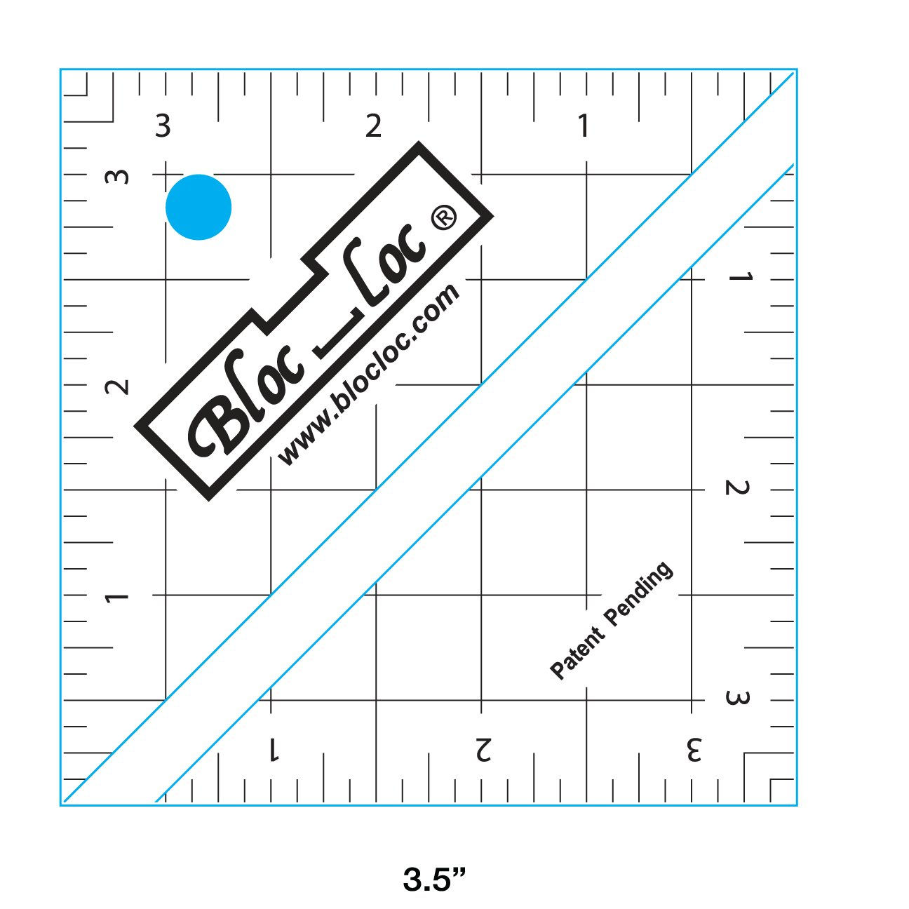 Bloc_Loc HST Square up Ruler 3.5