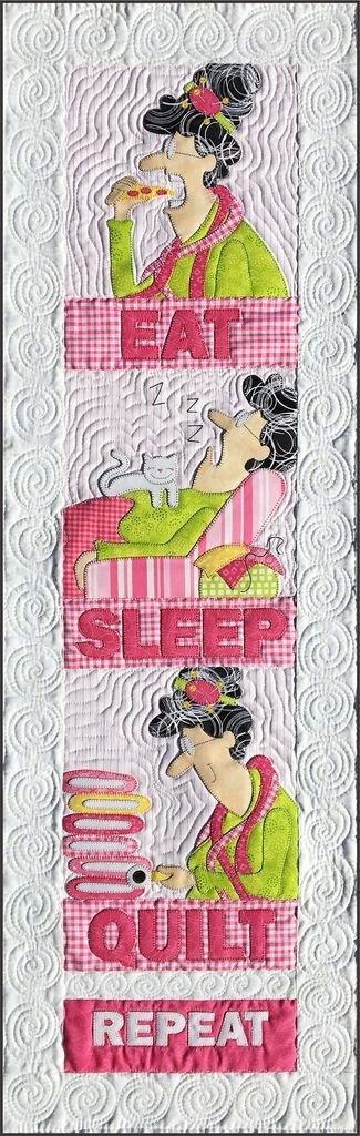 Eat, Sleep, Quilt Repeat Pattern