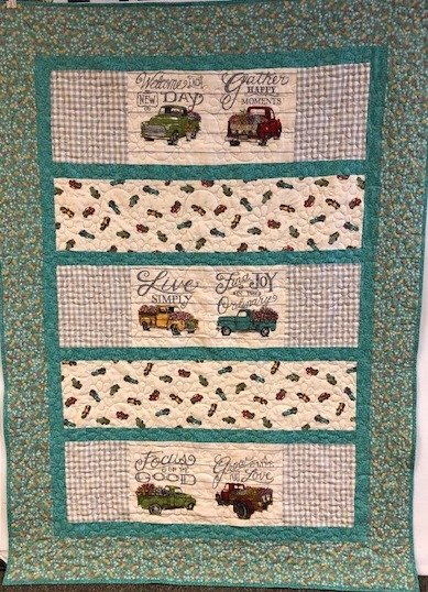 Row by Row Truck Quilt
