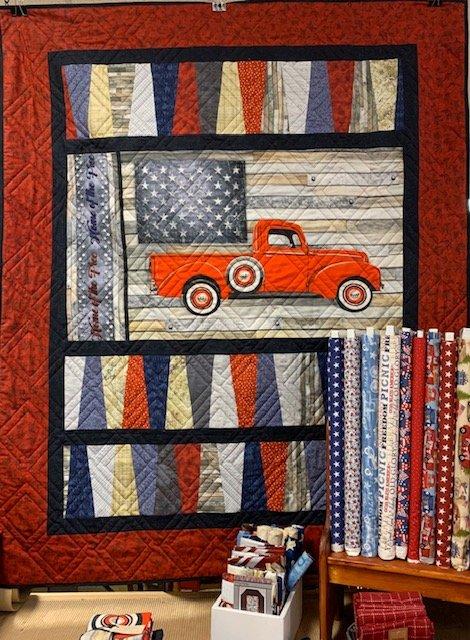 Patriotic Truck Quilt Kit