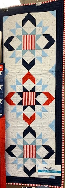 Stars & Stripes Table runner of the Month