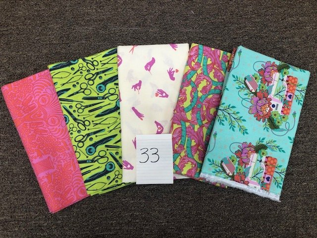 Five 1-Yard Cuts #33 (Tula Pink Prints)