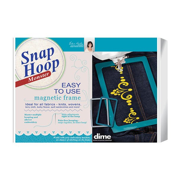 DIME Monster Snap Hoop 8 X 12 for Baby Lock and Brother