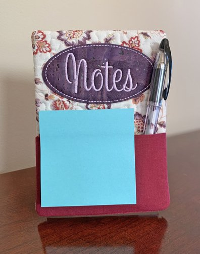 Embroidery Garden Notepad Holder and Acrylic Frame