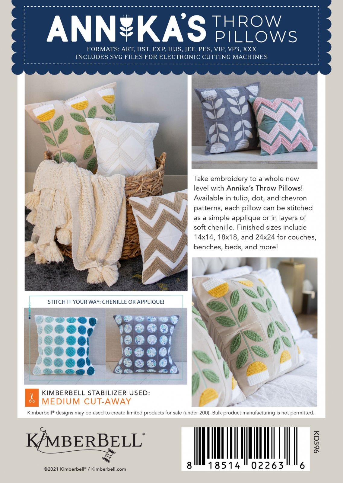 Kimberbell Annika's Throw Pillows (Pattern on CD)