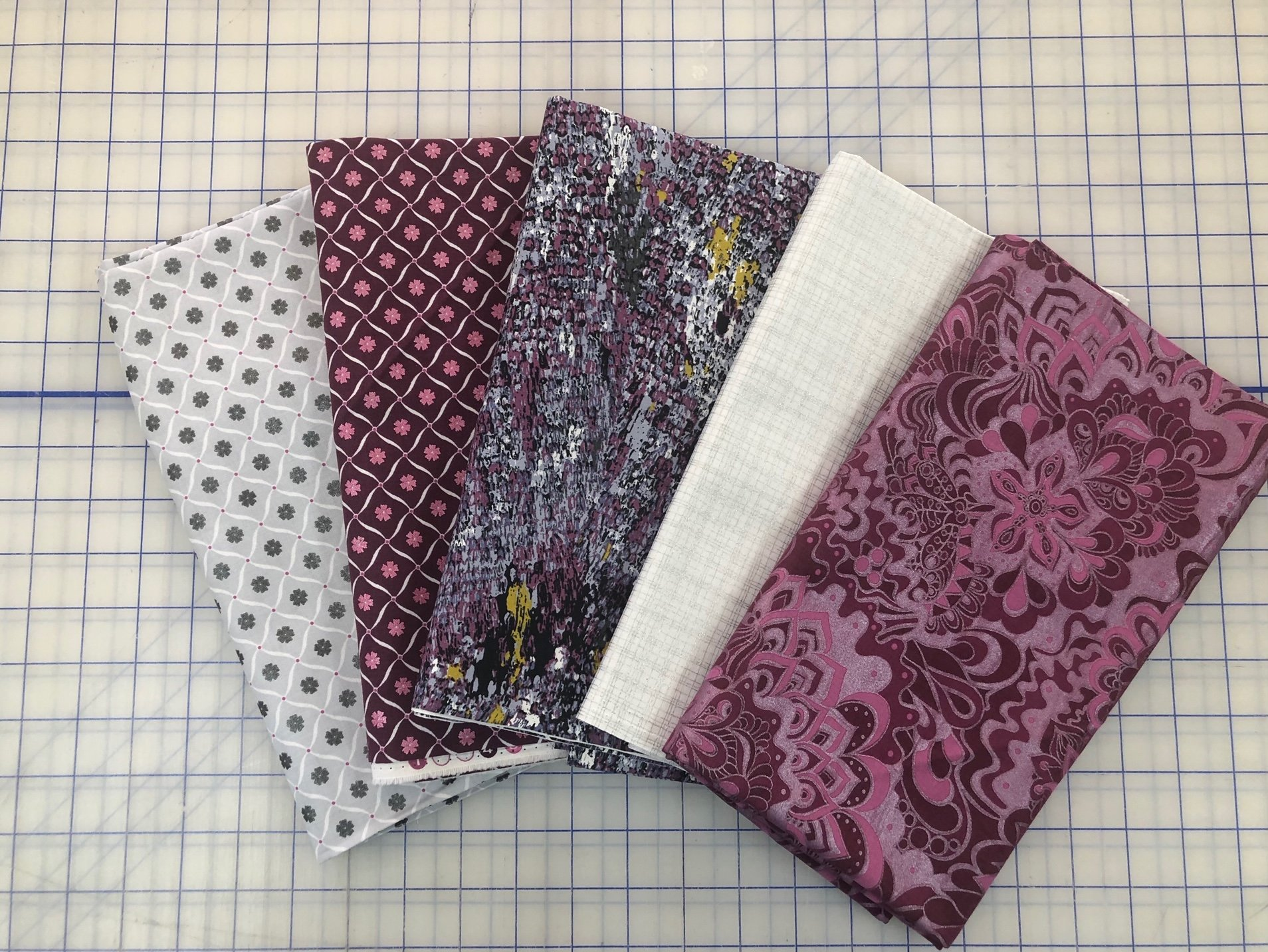 Five 1-Yard Cuts #8 (Sophisticated Purples)