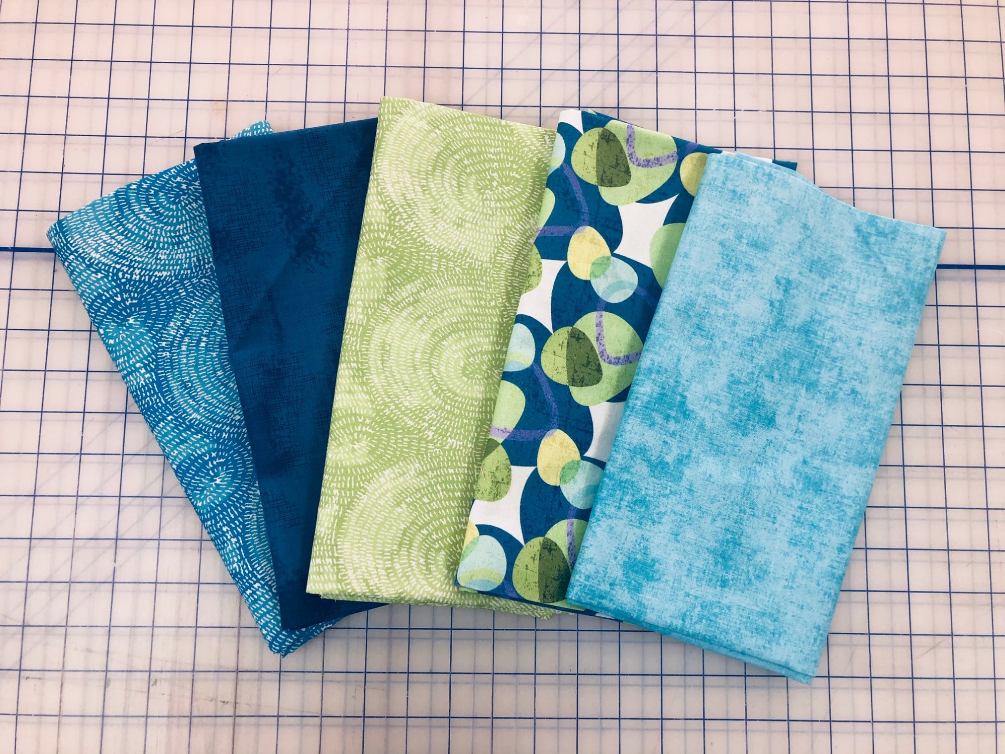 Five 1-Yard Cuts #2 (Blue Shades) - Sold Out