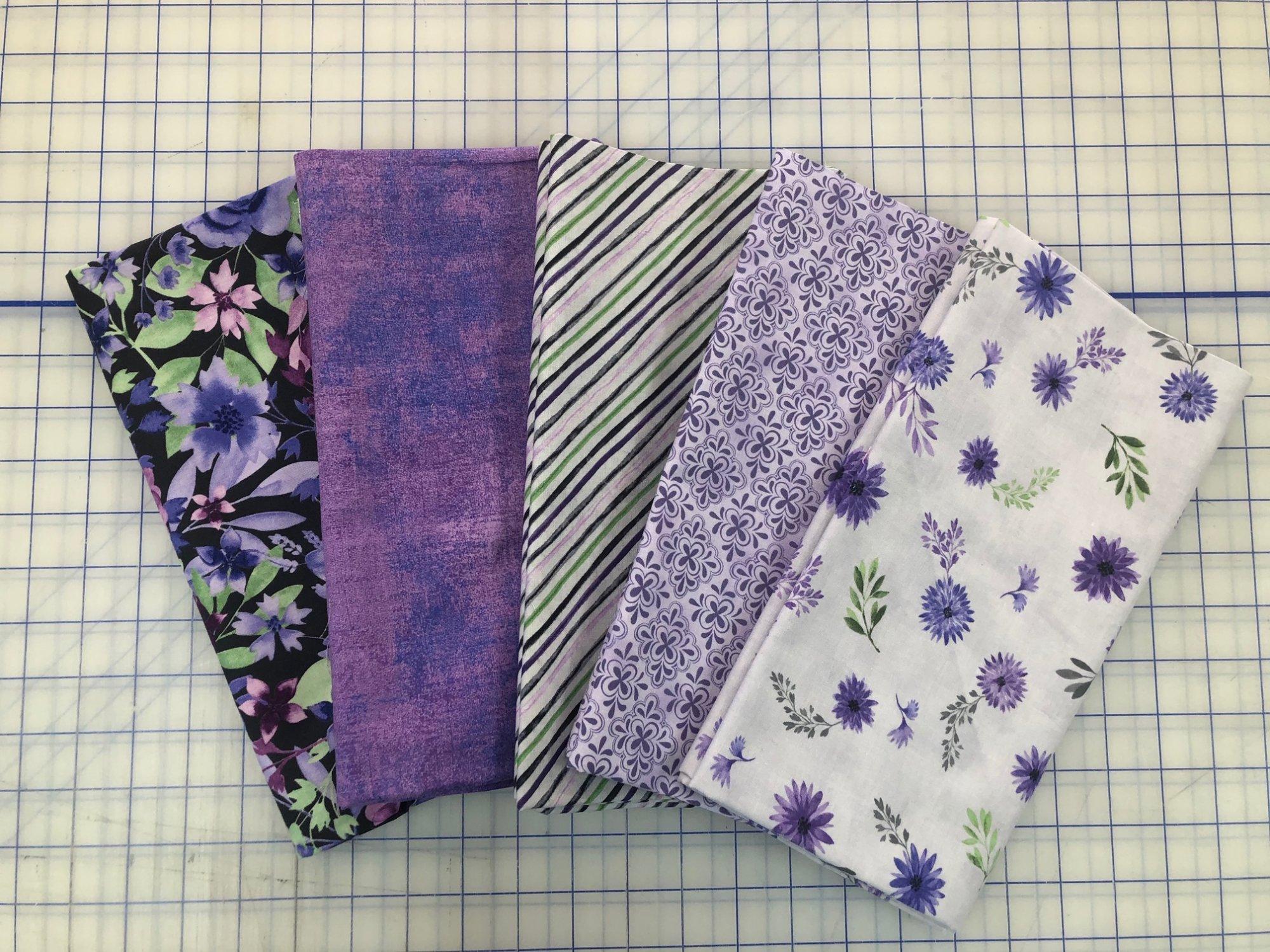 Five 1-Yard Cuts #1 (Purple Shades)