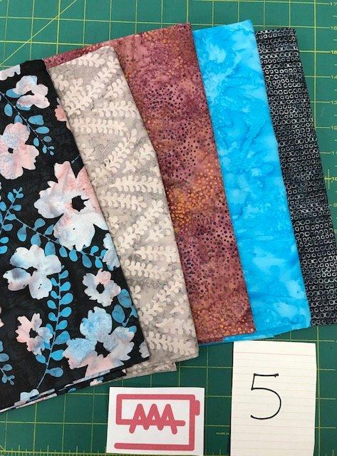 Five 1-Yard Cuts Batik Group #5
