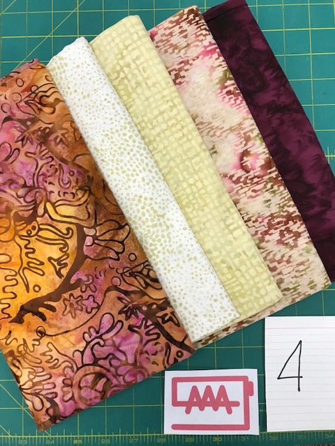 Five 1-Yard Cuts Batik Group #4