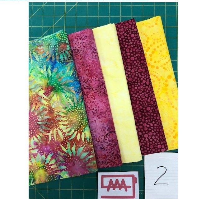 Five 1-Yard Cuts Batik Group #2