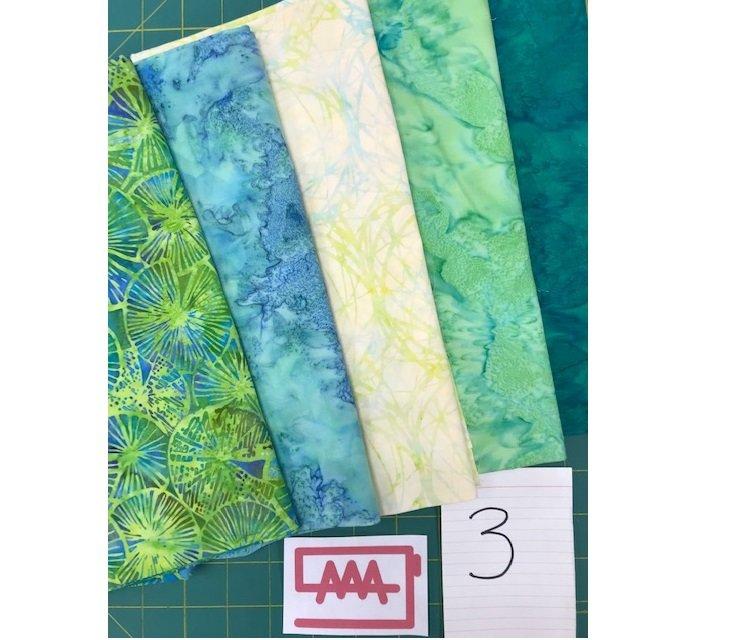 Five 1-Yard Cuts Batik Group #3