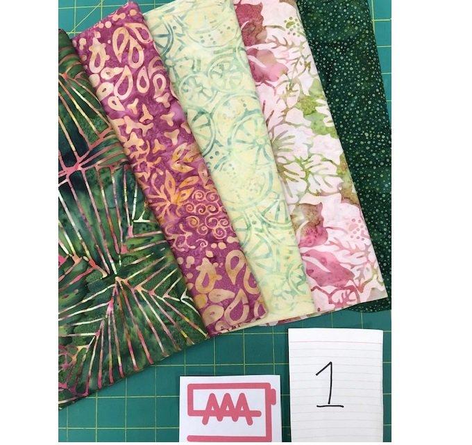 Five 1-Yard Cuts Batik Group #1