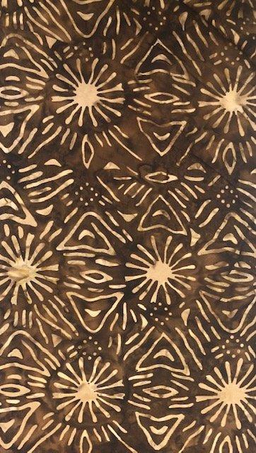 Batik by the Yard: Brown Sparks