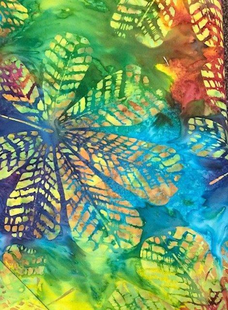 Batik by the Yard: Rainbow Leaves