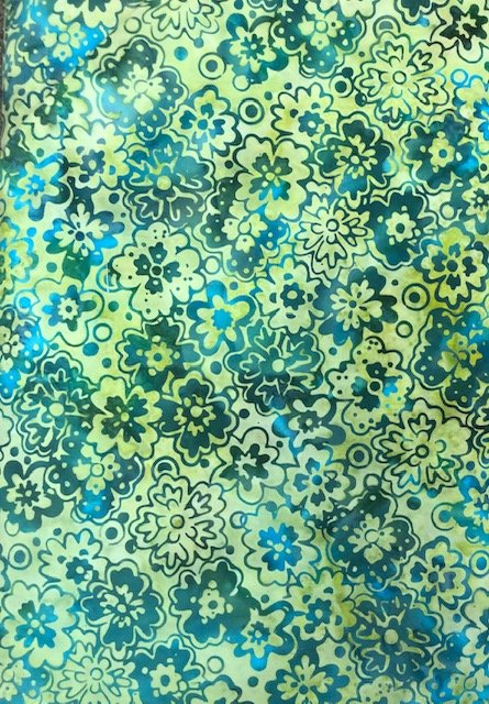 Batik by the Yard: Scattered Flowers