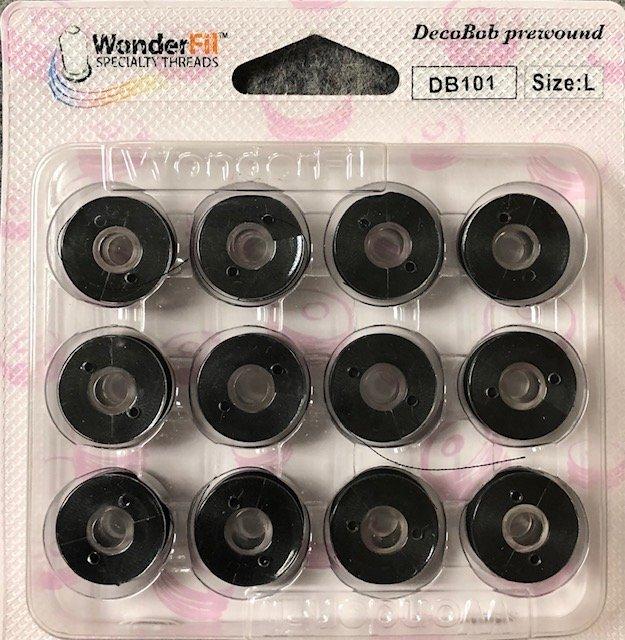 Prewound Class L Bobbins: 11 Pack of Black