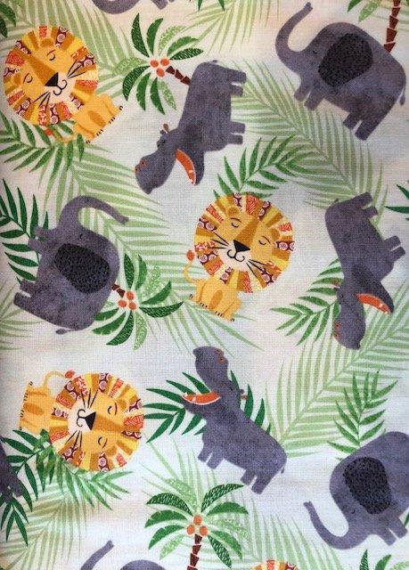 Novelty Fabric by the Yard: Silly Safari Animals
