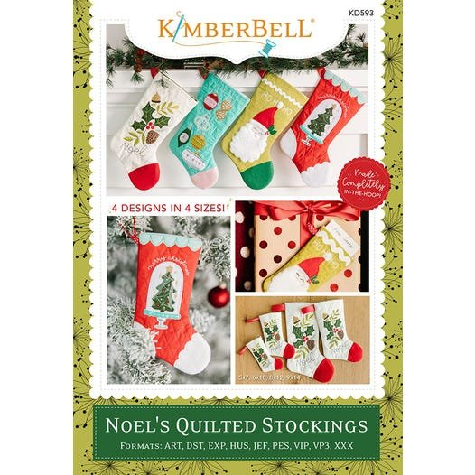 Pre-order: Kimberbell Noel's Quilted Stocking Embroidery Design Collection