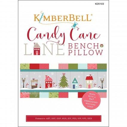 Pre-order: Kimberbell Candy Cane Lane Bench Pillow Kit (Embroidery CD, Fabric Kit & Embellishment Kit)