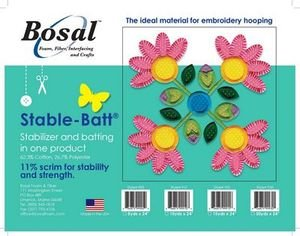 Bosal Stable-Batt Stabilizer and Batting: By the Yard