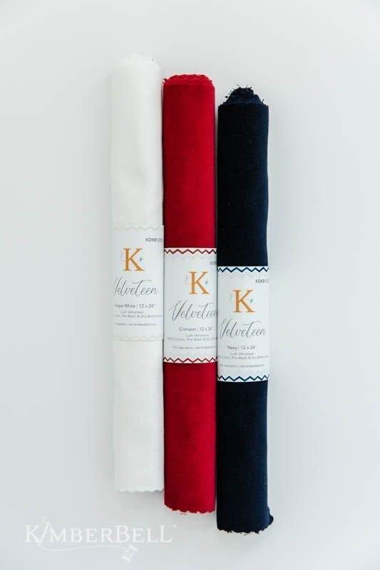 Kimberbell Velveteen Fabric (Crimson)