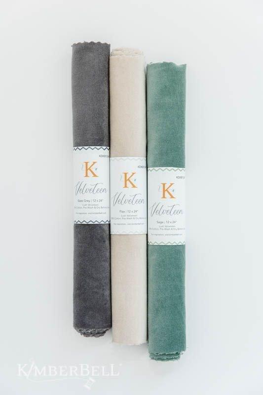 Kimberbell Velveteen Fabric (Slate Grey)