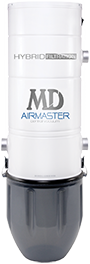 MD Airmaster bottom-emptying central vacuum